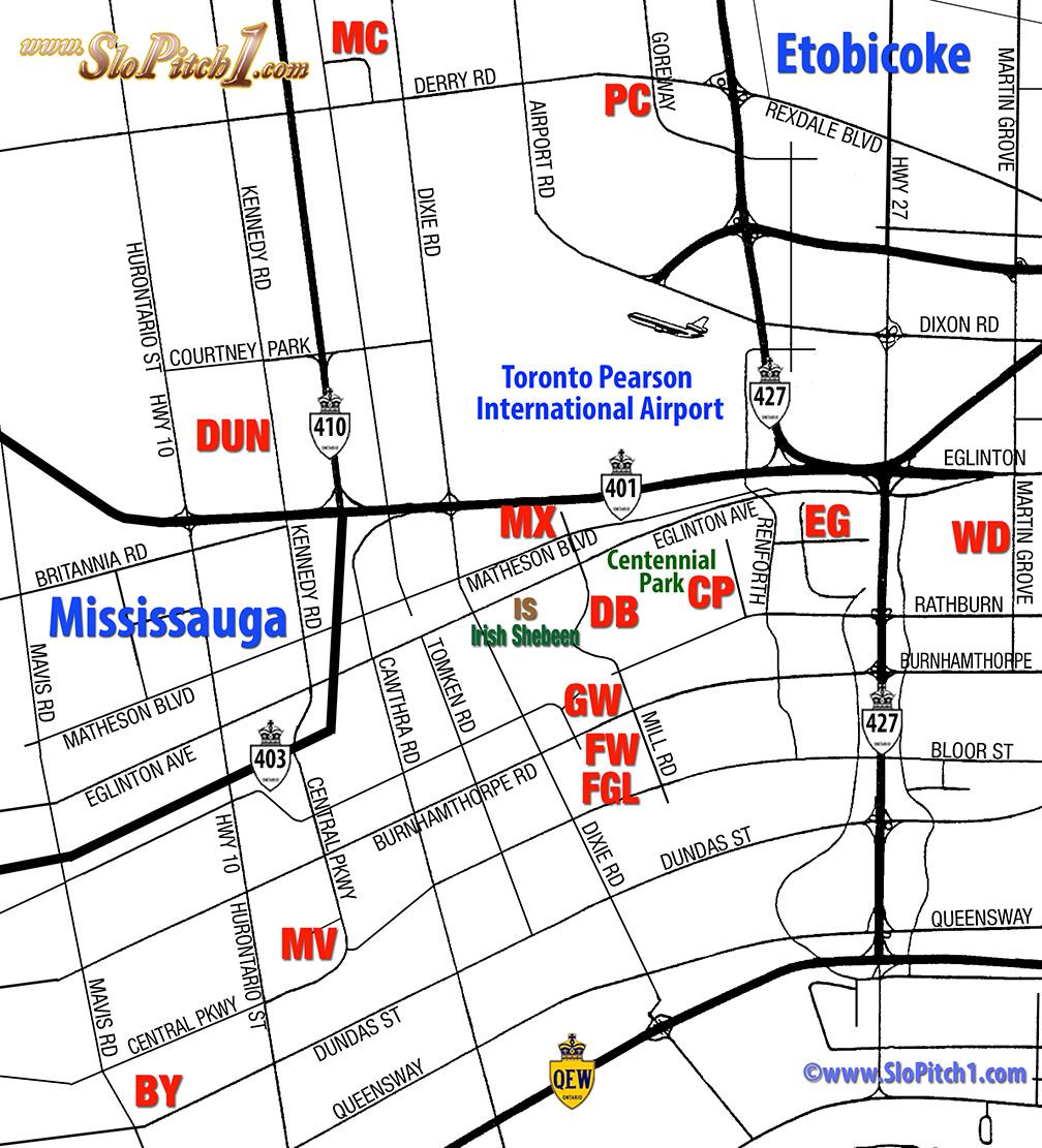 Tournament Parks & Maps Etobicoke-Mississauga